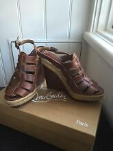 Christian Louboutin Barcelona wedge sandals Size 38 Balmain Leichhardt Area Preview