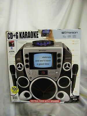 ( Emerson Portable CD+G PP650 Karaoke System 2 Microphones 2 CDs Manual & Cords)
