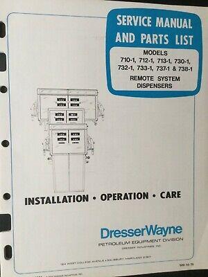 Wayne Dresser Dispensers Service Manual Parts List - Illustrated Service