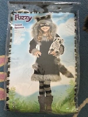 Raccoon Halloween Costume Small 3T-4T (Girls Racoon Costume)