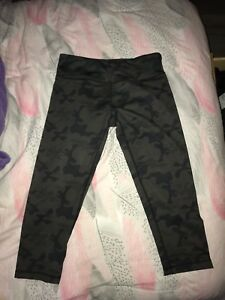 lulu lemon camo leggings cropped