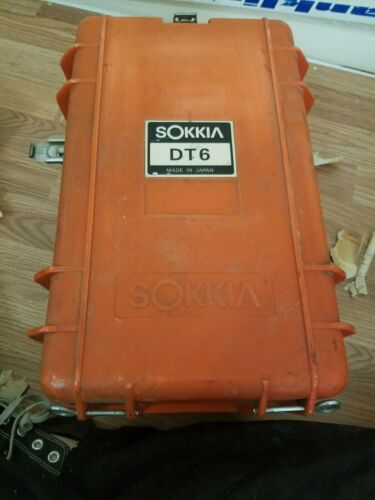 SOKKIA DT6 DIGITAL THEODOLITE w/ BATTERY, HARD CASE, ACCESSORIES