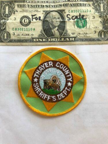 Thayer County Nebraska Police Patch ( Sheriff