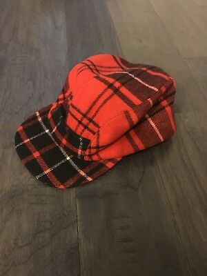 Polo Ralph Lauren Buffalo Plaid Hunting Ear Flap Hat Trapper Large New Vintage Plaid Hat Earflap