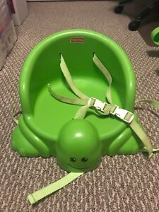 Fisher Price Turtle table booster seat.
