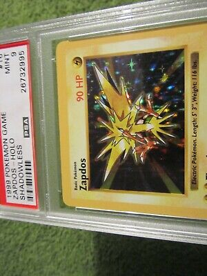 PSA 9 Shadowless Base Holo Zapdos 16/102 in MINT Condition