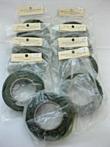 Florist Tape Green Paper Craft Tape Florist Tape Lot of 9 NIP 1/2-Inch