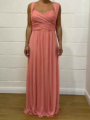 NEW Jenny Yoo Apricot Maxi Bridesmaids Dress - Size UK12