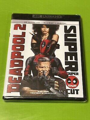 Deadpool 2 Super Duper Cut (4K + Blu-ray + Digital) Brand New, Free Shipping