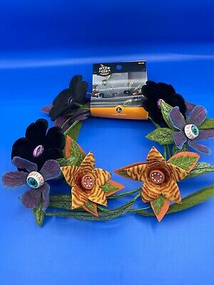 Hyde And Eek Boutique Creepy Felt Plants Artificial Swag Garland 2020 Halloween