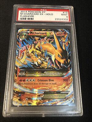 PSA 9 M Charizard Ex 13/106 XY 2014 Flashfire Pokemon Card