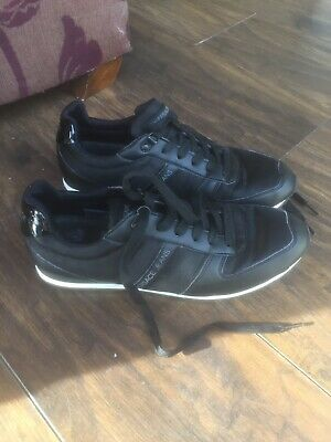 Mens Black Versace Trainers Size 43