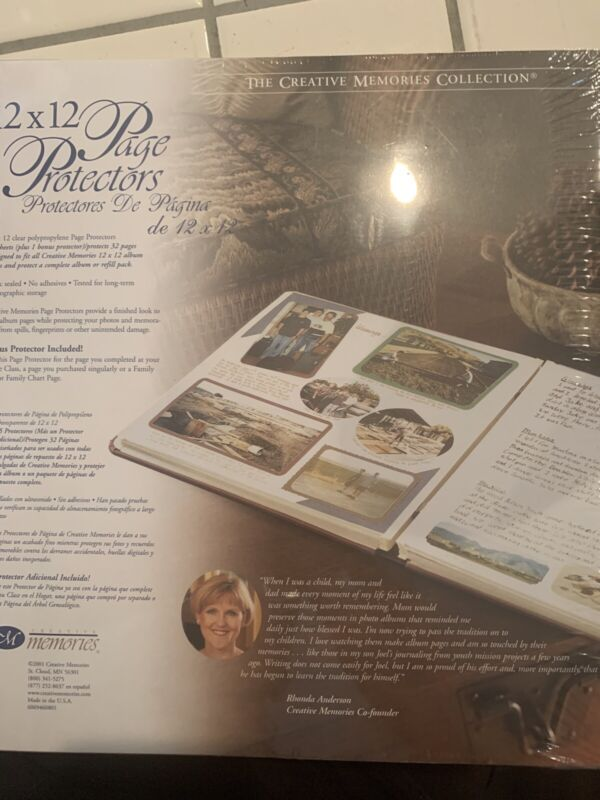 Creative Memories 12x12 Page Protectors 15 Sheets 2001 Old Style New NIP
