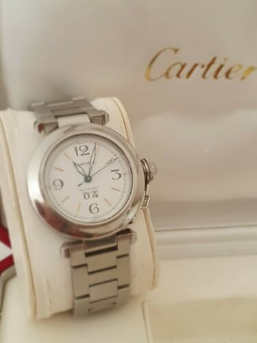 Pasha De Cartier Big Date Unisex Watch Stainless Steel - watch picture 1