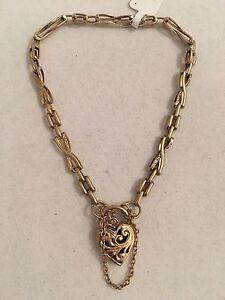 9ct Gold Bracelet with Heart Clasp Mandurah Mandurah Area Preview