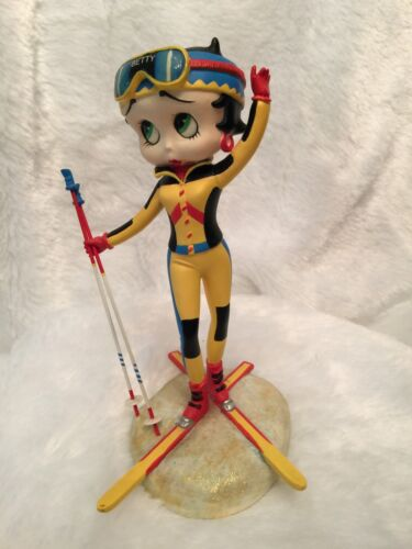 The Danbury Mint Betty Boop Ski Bunny Collector Figurine Resin Height 7""