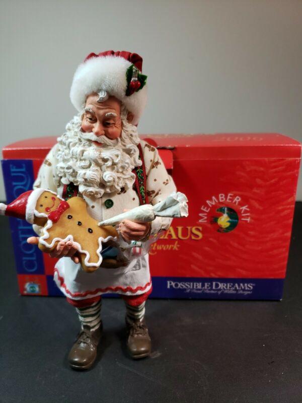RARE Possible Dreams Clothtique 2006 Santa Claus Network Member Kit Cute Cookie