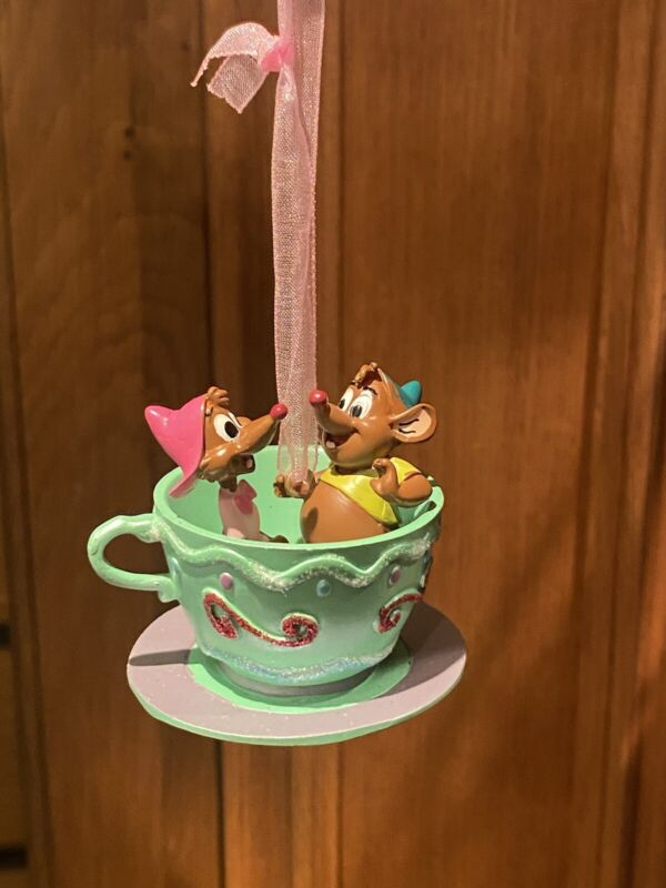 Ornament Dangler Cinderella Gus And Suzy Disneyland PARIS Christmas  Disney