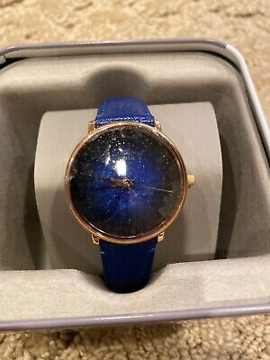 FOSSIL PRISMATIC GALAXY BLUE LEATHER WATCH ES4729 NEW NWT
