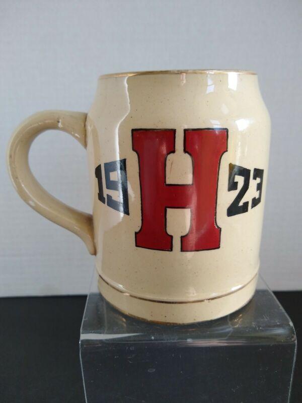 1923 Yelloware School Beer Mug - Harvard College University ?