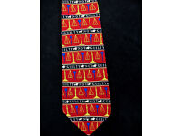 Museum Artifacts Silk Blue Lawyer Legal Scales of Justice Stripe Law Necktie Tie