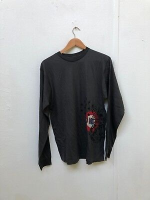 Hurley x Nike Men's Graphic Logo LS T-Shirt - Large - Charcoal - New