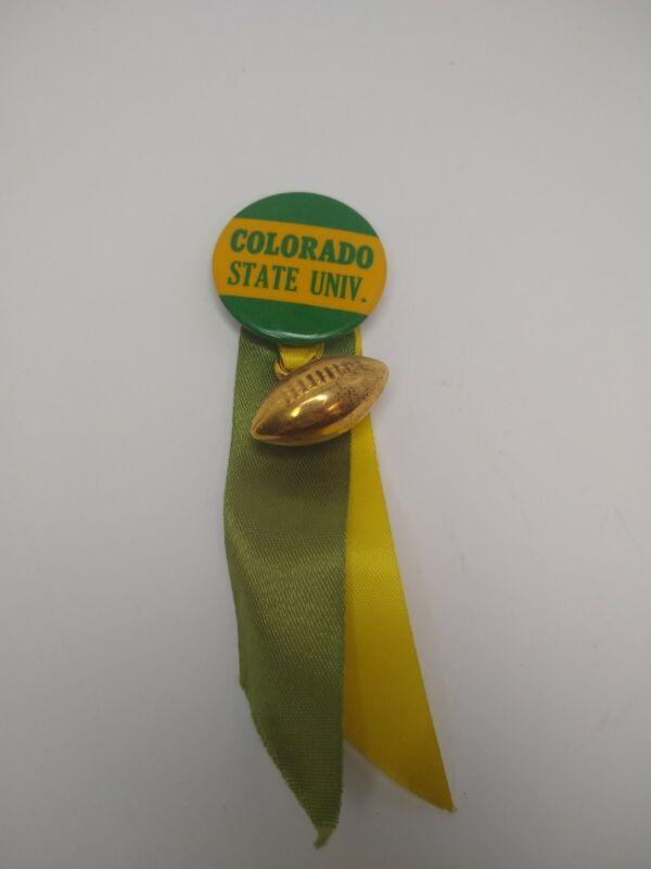 Vintage Colorado State University Football Button