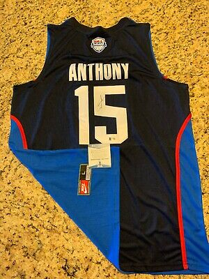 Carmelo Anthony Team USA Autograph Signed Jersey! Beckett Coa T66938