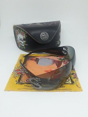 ED HARDY Snake 2 Sunglasses Model EHS005 COLOR Black Includes - Hardy Sunglasses Model