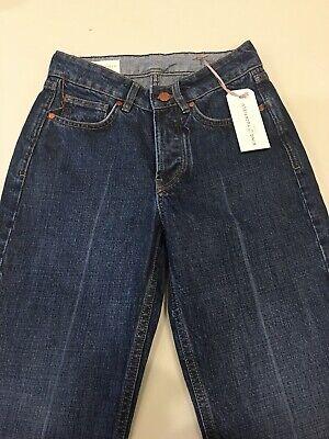 King & Tuckfield. Selvedge jeans. Joan crop. Dark Stone creased. Size 25.