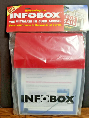 INFOBOX Outdoor Brochure Flyer Box Real Estate Document Holder MADE in USA