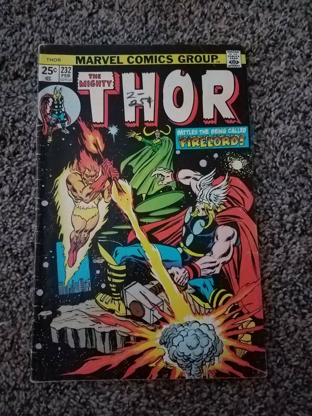 The Mighty Thor 232 Early Firelord Loki App - $6.49