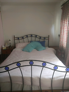 Queen size bed with 2 matching wooden 1 drawer side tables​ Coogee Eastern Suburbs Preview