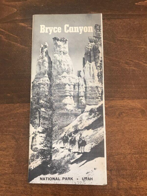 Vintage 1958 BRYCE CANYON NATIONAL PARK - UTAH Brochure