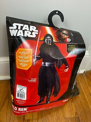 Kylo Ren Adult Black Costume Medium Star Wars The Force Awakens 2017 One Size