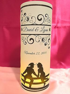 Western Centerpieces (10 Personalized Country Western Wedding Luminaries Table Centerpieces)