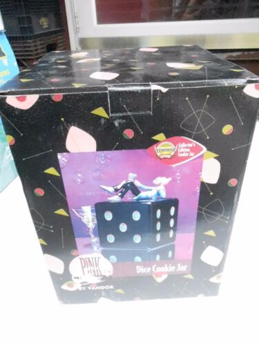 NRFB Vandor 1998 Premiere Edition Pink Panther With Dice Cookie Jar (S15)