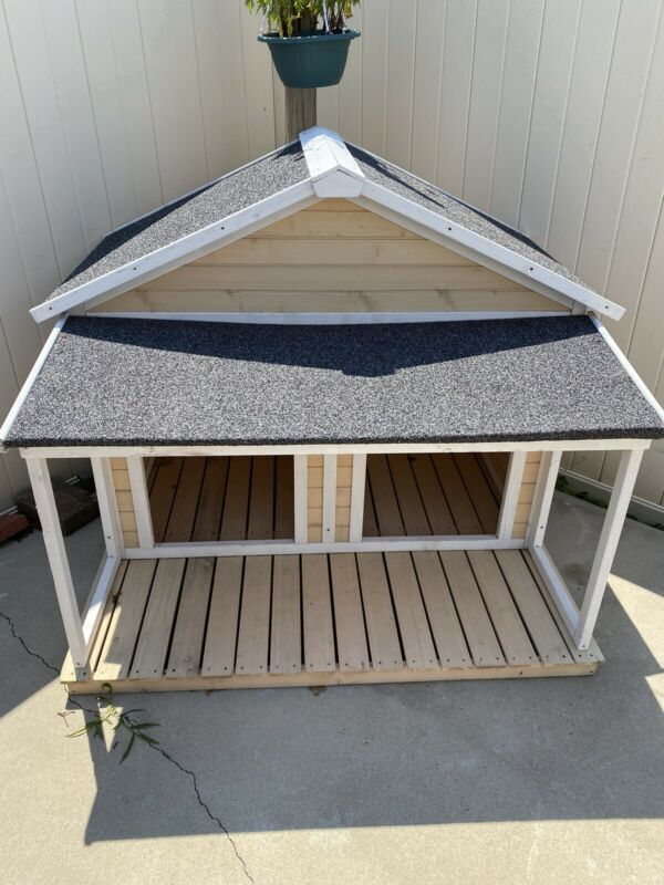 "Large Dog Houses Wood For Two Dogs Double Extra Wide Duplex Big ""PICKUP ONLY"""