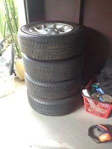 Ford Fairmont falcon au factory wheels mag full set with tyres Dundas Parramatta Area Preview