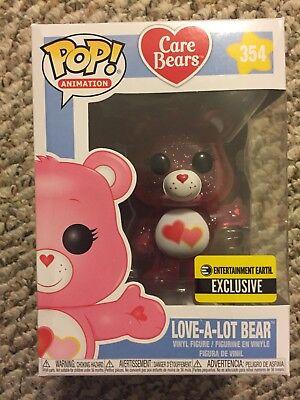 Funko Care Bears Glitter Love-a-Lot Bear Pop! Figure #354 EE Exclusive