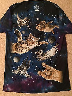 Kitty Cat Kitten Space Planet Pet New Tabby Calico Persian Mens Tie Dye T Shirt