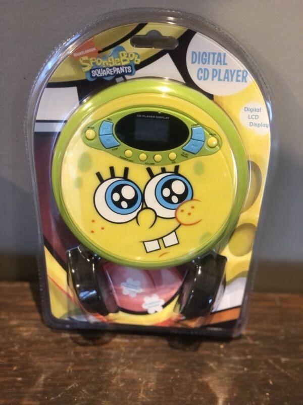 Spongebob Squarepants Personal Digital CD Player Brand New! Free Shipping
