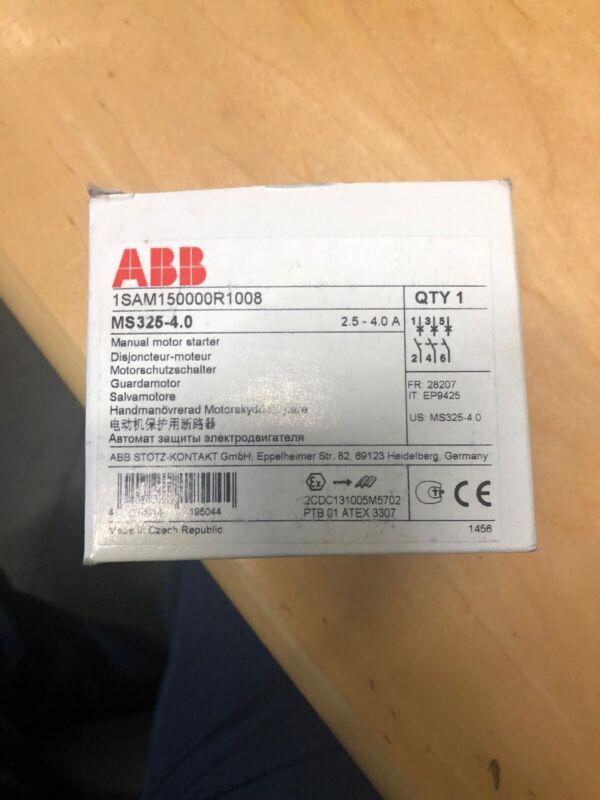 ABB MS325-4 Manual Motor Starter 1SAM150000R1008. New
