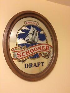 Scooner Draft Beer - Bar Mirror