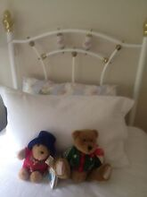 Girls Brass and White Single Bed Eltham Nillumbik Area Preview
