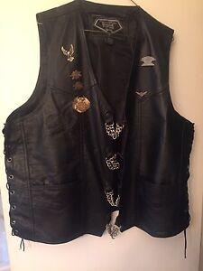 Leather riding vest