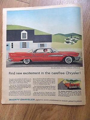 1958 Chrysler Windsor Dartline Sedan Ad  The Amazine Auto-Pilot