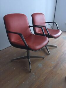 Pair of Mid Century Steelcase Shell Chairs