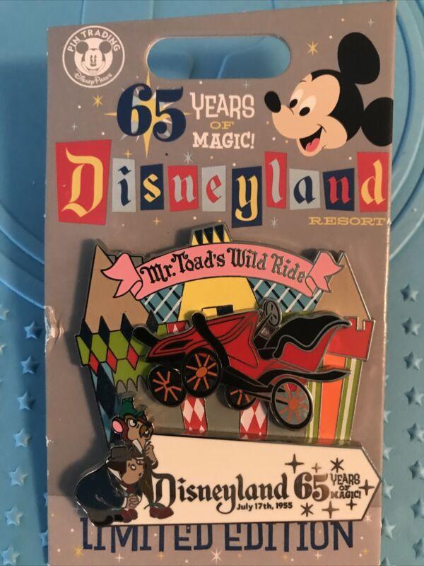 MR TOADS WILD RIDE PIN Disneyland 65th 1955 Anniversary Slider Pin