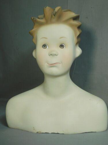 Vintage Commercial Design Sculpture Art Store Display Shirtless Boy Mannequin 85